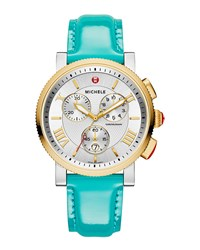 20Mm Patent Leather Strap Teal Women's Michele