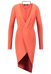 Missguided Jersey Dress Orange