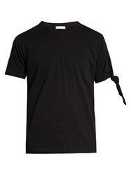 J.W.Anderson Knotted Sleeve Cotton T Shirt Black