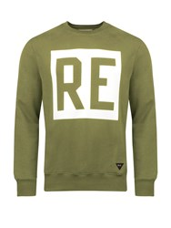 Realm And Empire Re Logo Graphic Crew Neck Sweatshirt Green