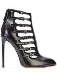 Alaia Cut Out Buckle Fastened Boots Black