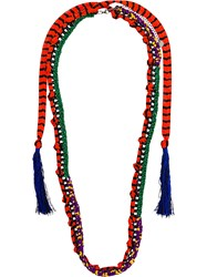 Missoni Macrame Chain Necklace Multicolour