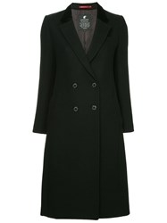 Loveless Double Breasted Flared Coat Black