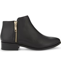 Aldo Julianna Leather Ankle Boots Black Leather