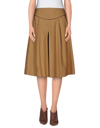 Soho De Luxe Knee Length Skirts Camel