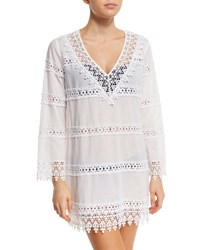 Tory Burch Crochet Lace Coverup Dress White
