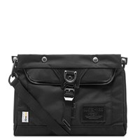 Master Piece Potential Leather Trim Sacoche Bag Black