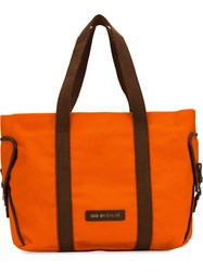 See By Chloe Logo Patch Tote Bag Yellow And Orange
