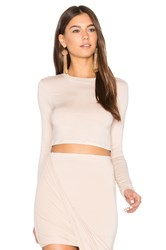 Blq Basiq Long Sleeve Crop Top White