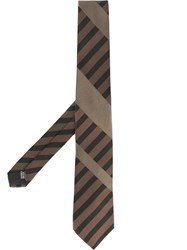 Cerruti 1881 Diagonal Stripe Tie Brown