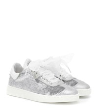 Monnalisa Sequined Sneakers Silver