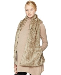 A Pea In The Pod Maternity Faux Fur Vest Brown