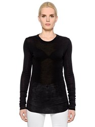 Etoile Isabel Marant Wool Jersey Long Sleeve T Shirt