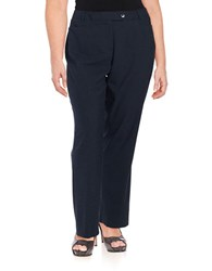 Calvin Klein Plus Straight Leg Dress Pants Navy