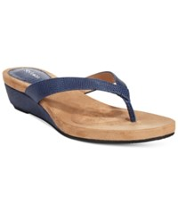 Styleandco. Style And Co. Haloe Wedge Thong Sandals Only At Macy's Women's Shoes Navy