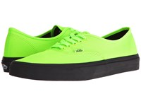 Vans Authentic Black Outsole Neon Green Black Skate Shoes