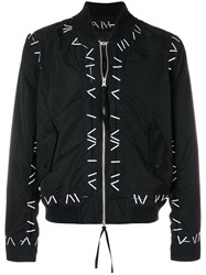 Ktz Pin Embroidered Bomber Jacket Black