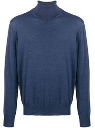 Barba Knitted Roll Neck Blue