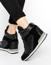Religion Belief Wedge Trainers Black