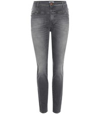 Closed Cropped Worker Jeans Grey