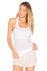 Skin Shelf Bra Tank Chemise White