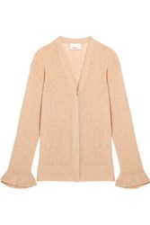 3.1 Phillip Lim Open Knit Wool Blend Cardigan Beige