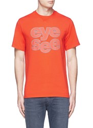 Icny 'Sound Out' Reflective Print T Shirt Red