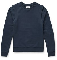 Public School Layered Effect Cotton Jersey Sweatshirt Blue