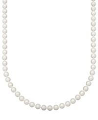 Belle De Mer Pearl Necklace 18' 14K Gold Aaa Akoya Cultured Pearl Strand 8 8 1 2Mm