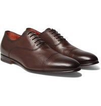 Santoni Leather Oxford Shoes Brown