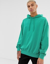 Cheap Monday Used Wash Hoodie Green