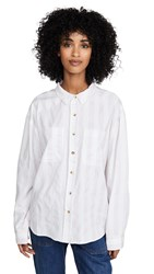 Rolla's Slouch Stripe Shirt Heather