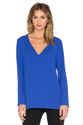 1. State Long Sleeve V Neck Top Blue