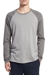 Men's Vince Raglan Sleeve Baseball T Shirt Smoked Grey