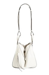 Loewe Small Leather Hobo White Soft White