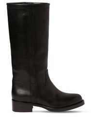 Etro 30Mm Leather Boots Black