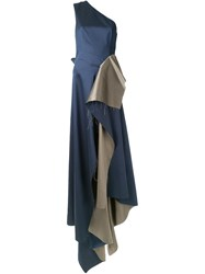 Yang Li 'Couture No.4' Dress Blue