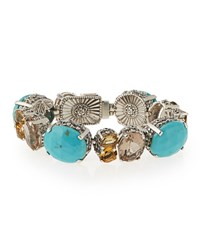 Turquoise And Quartz Link Bracelet Stephen Dweck Turquoise Blue
