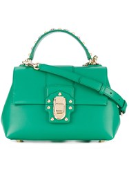 Dolce And Gabbana Lucia Tote Women Calf Leather One Size Green