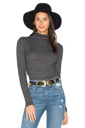 Stateside 2X1 Rib Funnel Neck Top Black