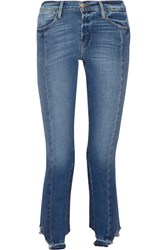 Frame Le High Mix Straight Leg Jeans Mid Denim