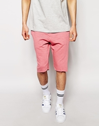 Asos Jersey Shorts In Longer Length Pinkmarl