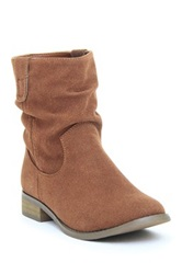 Dooballo Molly Slip On Slouchy Ankle Boot Brown