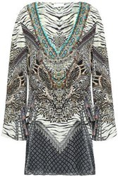 Camilla Woman The Bodyguard Layered Printed Silk Crepe De Chine And Chiffon Tunic Multicolor