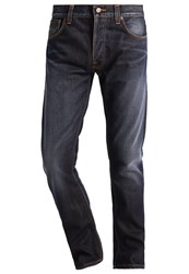 Nudie Jeans Dude Dan Straight Leg Ink Orange Dark Blue Denim