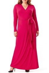 Mynt 1792 Maxi Wrap Dress Plus Size Pink