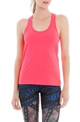 Lole Women's 'Fancy' Racerback Tank Reflector Pink