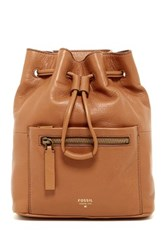 Fossil Vickery Mini Leather Backpack Brown