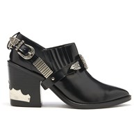 Toga Pulla Women's Leather Heeled Shoe Boots Black