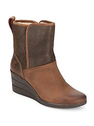 Renatta Uggpure Suede And Leather Wedge Boots Stout